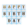 Happy Birthday Hanging Banner - White/Blue (60003)