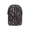 Fancy Printed School Bag For Kids- Black (0001)
