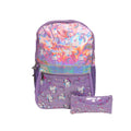 Unicorn School Bag With Pouch - Purple (025)