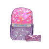 Unicorn School Bag With Pouch - Pink/Purple (024)