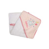 Bath time Baby Bath Towel - White/Pink (BP-14)