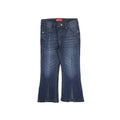 Bell Bottom Denim Pant For Girls - Dark Blue (DP-17)
