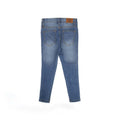 Side Tape Denim Pant For Girls - Blue (DP-14)