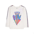 Super Girl Printed T-Shirt For Girls - White (001)