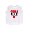 Girls Rule Sweat Shirt For Girls - White (GS-01)