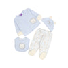 Little Lion Quilt Set For Baby Girl - 4 Pcs (4428)