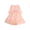 Fancy Star Net Frock For Girls - Pink (FS-01)