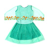Sequin Emb Top For Girls - Green (4226)