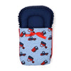 Cars Printed Baby Carry Cotton Nest - Blue (9693)