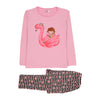 Flamingo Printed 2 PCs Suit For Girls - (95-160)