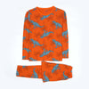 Dinosaurs Printed 2 PCs Suit For Boys - Orange (95-160)