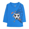 Football Printed T-Shirt For Boys - Blue (0859)
