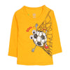 Football Printed T-Shirt For Boys - Yellow (0859)