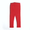 Plain Rib Tights For Girls - Red (GT-039)