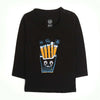 Fries Eye Printed T-Shirt For Boys - Black (BS-08)