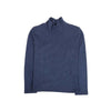 Turtle Neck Plain T-Shirt For Boys - Blue (05)