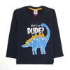 Dinosaur Printed Sweat Shirt For Infant Boys - Black (SS-01)