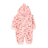 Animals Hooded Romper For Infants - Pink (2674)