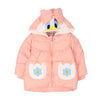 Duck Hooded Puff Jacket For Girls - Peach (GJ-10)