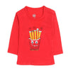 Fries Eye Printed T-Shirt For Boys - Red (BS-09)