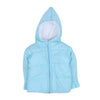 Quilted Hooded Puff Jacket For Infants - Sky Blue (IJ-04)