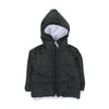 Quilted Hooded Puff Jacket For Infants - Dark Green (IJ-03)