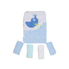 Carter's Dolphin Hooded Bath & Face Towel 5 Pcs (6266)