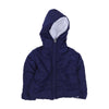 Quilted Hooded Puff Jacket For Infants - Navy (IJ-02)