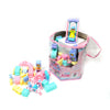ABC Happy School Early Ttaching Material 90 Pcs - Multi Color (JX6642)