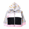 Star Printed Fleece Jacket For Girls - (0001)