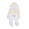 Hooded Romper For Infants - Yellow/White (2647)