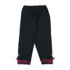 Embroidered Cotton Pant For Girls - Black (2752)
