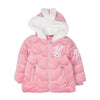 Bunny Hooded Puff Jacket For Girls - Pink (GJ-353)