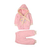 Butterfly Hooded 2 PCs Suit For Infants - Pink (IS-209)