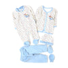 Elephant 5 PCs Gift Set For Infants - White/Blue (GS-13)