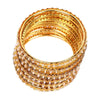 Fancy Fashionable Bangles For Girls - Gold/White (21035)