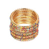 Fancy Fashionable Bangles For Girls - Multi (21035)