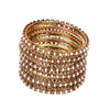 Fancy Fashionable Bangles For Girls - Golden (21035)