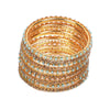 Fancy Fashionable Bangles For Girls - Golg/Blue (21035)