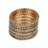 Fancy Fashionable Bangles For Girls - Blue (21035)