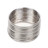Plain Metal Bangles For Girls - Silver (11510)