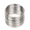 Plain Metal Bangles For Girls - Silver (11510-1)