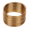 Plain Metal Bangles For Girls - Golden (11510-1)