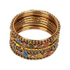 Fancy Fashionable Bangles For Girls - Multi (17510-1)