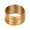 Plain Metal Bangles For Girls - Golden (11510)