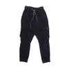 Plain Cargo Cotton Pant For Boys - Black (0832)