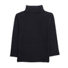 Turtle Neck Plain T-Shirt For Boys - Black (2304)