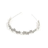 Metal Stars Hair Band For Girls - Silver (HB-006)