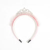 Fancy Frill Crown Hair Band For Girls - Pink (HB-026)