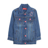 Denim Rainbow Jacket For Girls - Blue (1907)